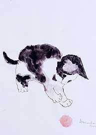 gattino con gomitolo