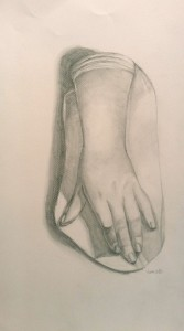study of feminine hand from cast