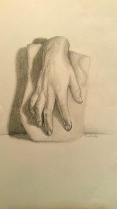 study of hand from cast