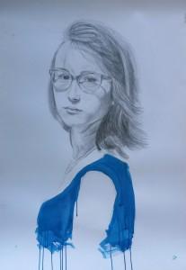 portrait, mixed media