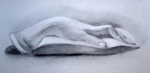 Studio di dettaglio anatomico, la mano