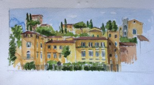 vista del lungarno Firenze