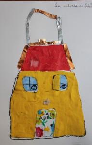 borsa a forma di casa, laboratorio di moda per bambini, arte per bambini a Firenze