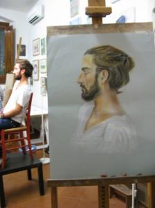 live portrait , pastel