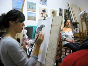 art courses for adults - drawing with live model